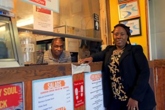 Photo of Kamahlai and Maurice Stewart, the owners of House of Soul Catering