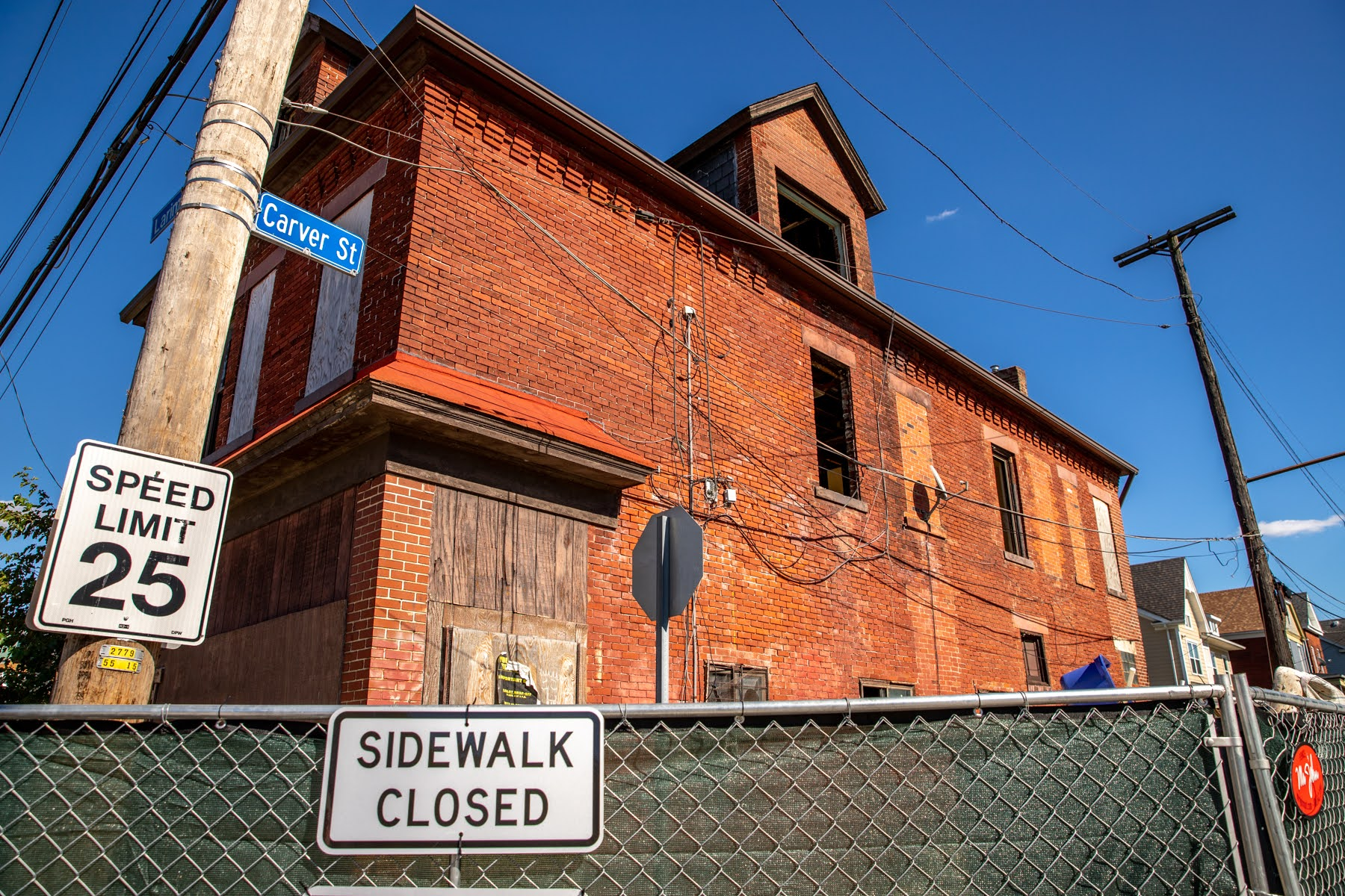 """Formerly known as """"the dog house,"""" this building on Larimer Avenue is under renovation, and may house a coffee shop with pastries in the future. (Photo by Kaycee Orwig/PublicSource)"""